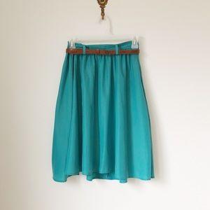 Robin's Egg Blue Skirt with Pockets